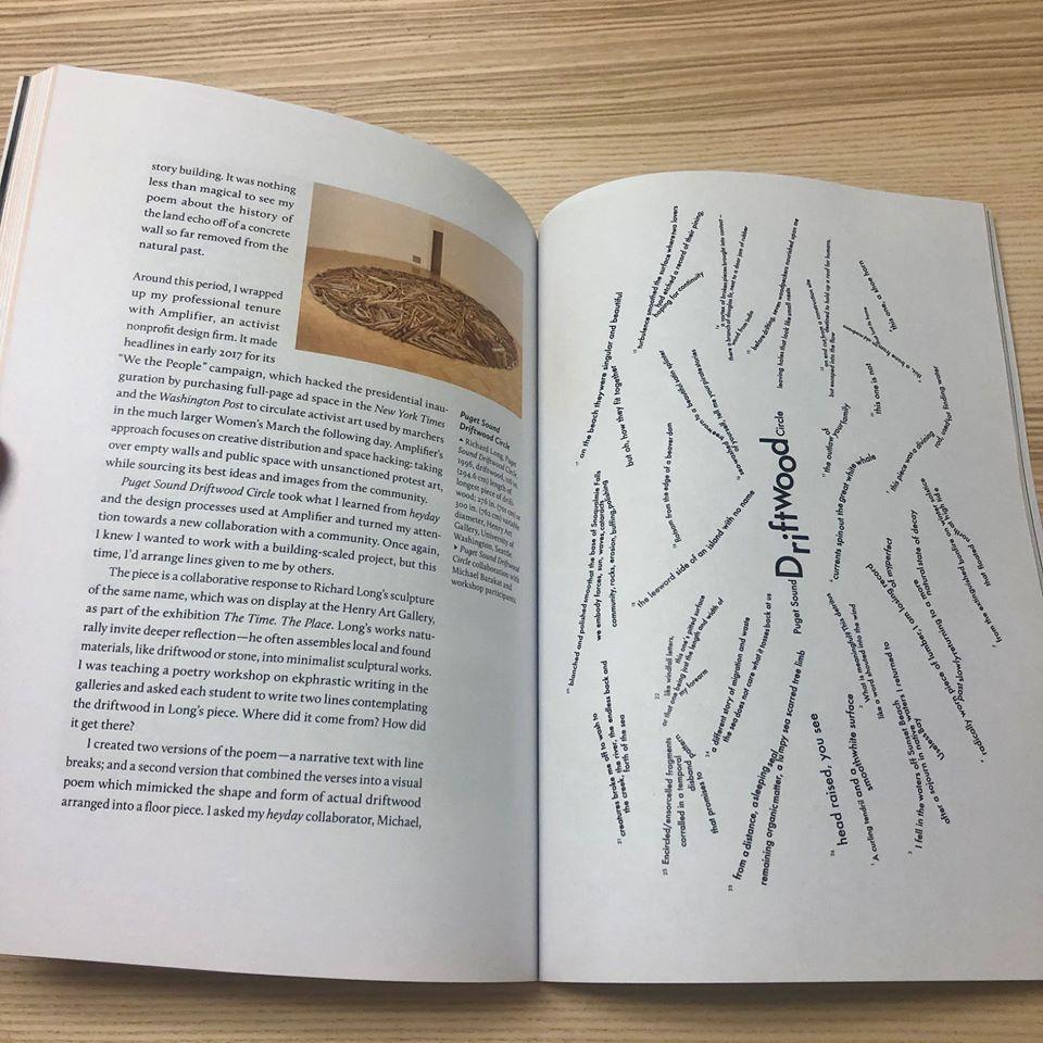 Inside book spread