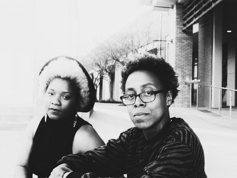 (r) muthi reed & (l) Angela Davis Johnson
