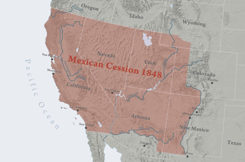 The Treaty of Guadalupe Hidalgo, 1848