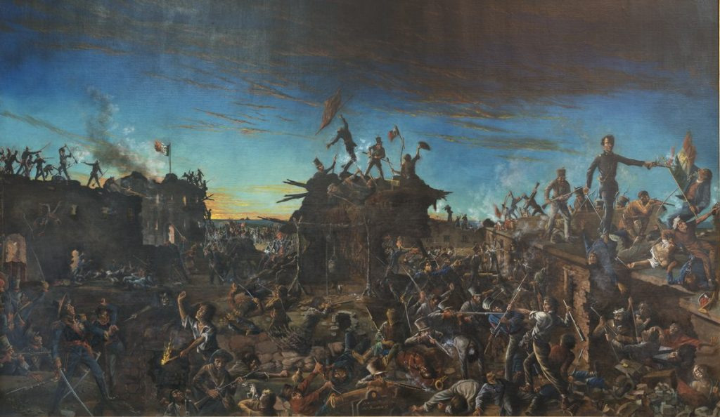 Painting of the Battle of the Alamo