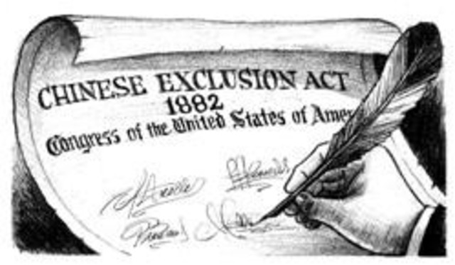 Chinese Exclusion Act in the United States, 1882