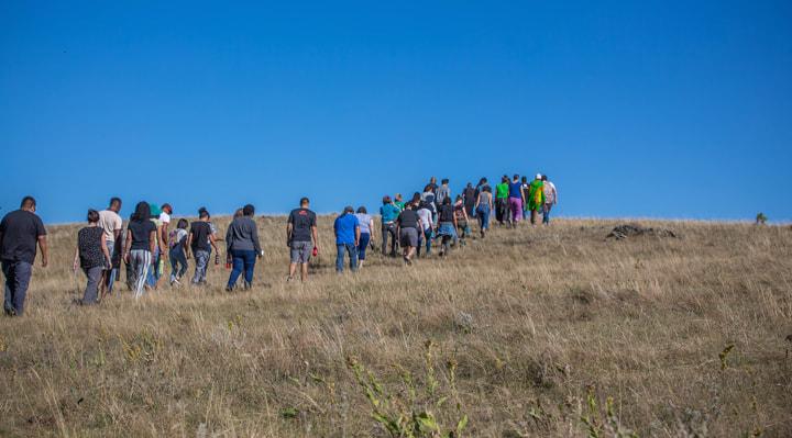 ILI Fellows at Pe'Sla sacred site in Black Hills, Pine Ridge Reservation, Lakota Territory during Intensive