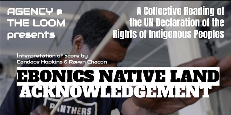 Ebonics Native Land Acknowledgement